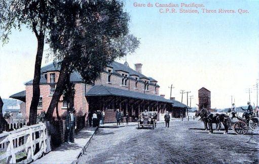 Gare de Trois-Rivières, Québec - Gare du Canadien Pacifique pc 1878-1924