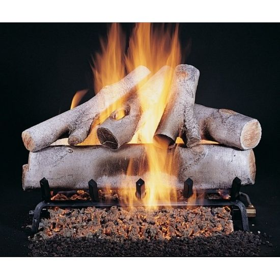 Birch Vented Gas Fireplace Logs