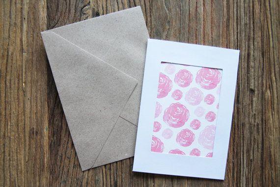 Watercolour roses, greeting card, cute birthday card, watercolour print, happy birthday, greeting cards handmade, illustration print
