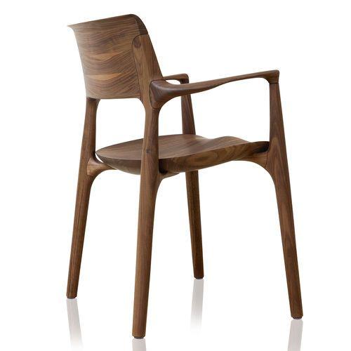 Chaise contemporaine / en bois / en bois courbé / tapissée EASY by Jader Almeida SOLLOS