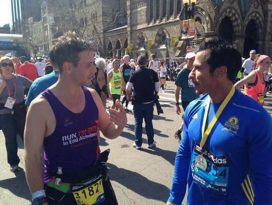 Danny and Joey after the Boston Marathon, 4.21.14 ♥♥♥♥