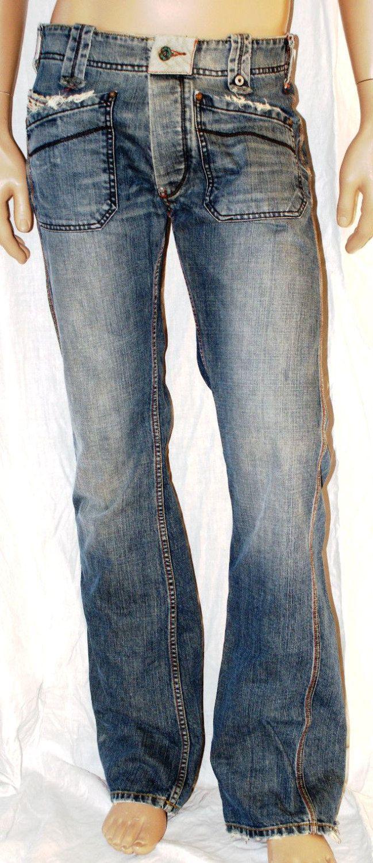 Original Gipsy Man Jeans Blue Cotton Jeans Uomo Blu Branded Diesel Taglio Dritto Regular Fit Taglia 29 di BeHappieWorld su Etsy