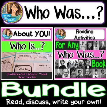 Who Was...? Books Bundle. Who Was...? for ANY book and Who Is...? About You! together. Who was Rachel Carson? Who was Barack Obama? Who was Benjamin Franklin? Who was...?Engage students with this set of reading activities that can be used with ANY book in the Who Was biography series.