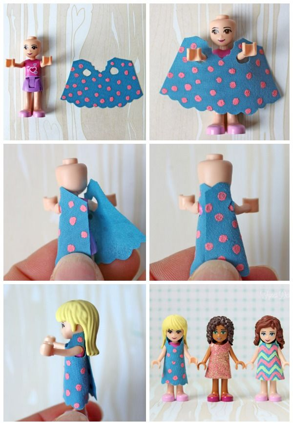 Free dress template for Lego Friends - oh how Miss7 will LOVE this!!!