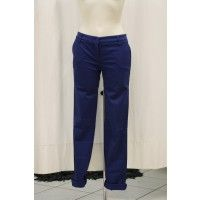 Uzes pantaloni donna colore blu elettrico 95% cotone 5% elastano