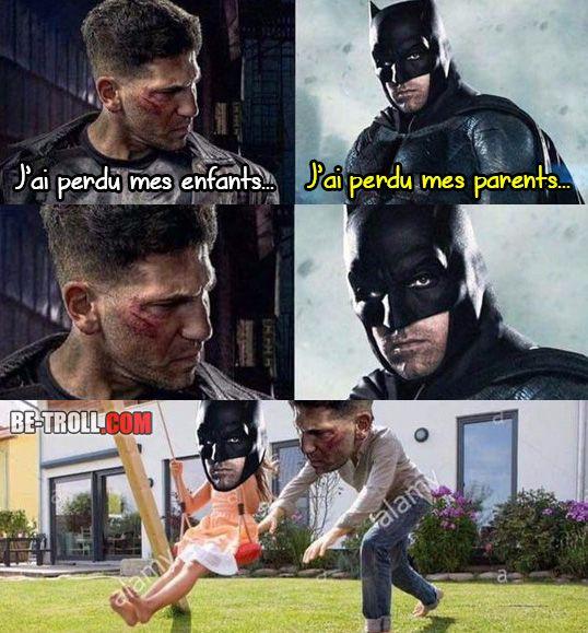 The Punisher et Batman se complètent ! - Be-troll - vidéos humour, actualité insolite