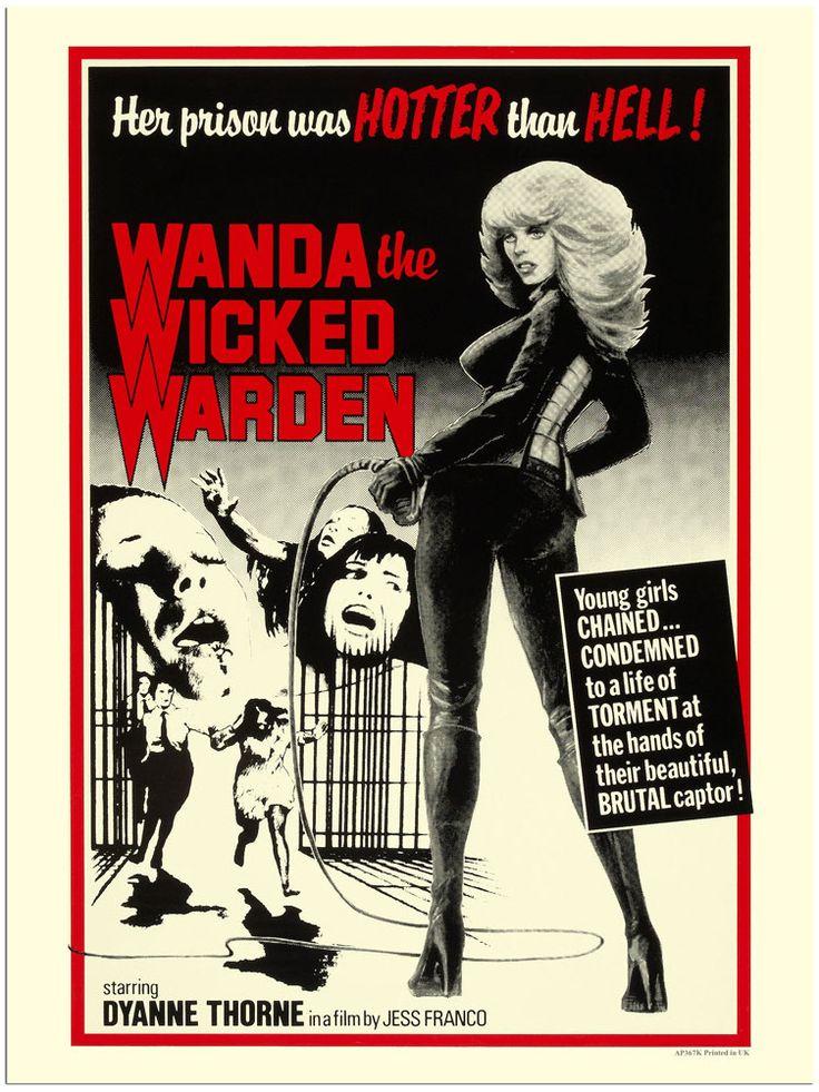exploitation film posters | ... Wanda The Wicked Warden, Exploitation Movie Poster (30x40cm Art Print