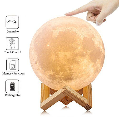Lol Lighting Full Moon Lamp Light 3d Printed Dimmable Coo