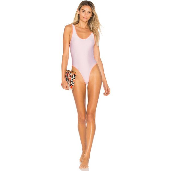 Lovers + Friends x REVOLVE Good Times One Piece Swimsuit (455 ILS) ❤ liked on Polyvore featuring swimwear, one-piece swimsuits, swim, one piece bathing suits, retro one piece bathing suits, scoop neck swimsuit, swim wear and 1 piece swimsuit