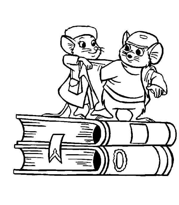 The Rescuers The Rescuers Miss Bianca Put Jacket On Bernard Coloring Pages Coloring Pages Disney Coloring Pages Coloring Books