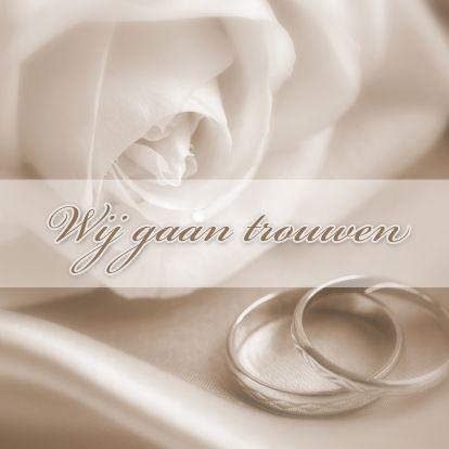 Wedding Invitation / Trouwkaart by Redactie Kaartje2go www.kaartje2go.n