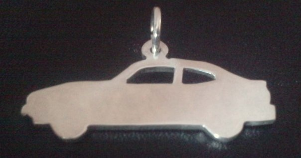 Sterling Silver Ford Capri Car pendant Sterling Silver    This design made by my self David Baggaley (Silversmith & Goldsmith) its totally hand made f