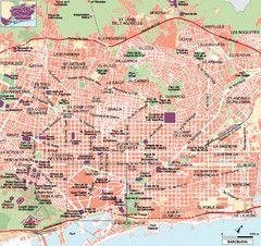 Barcelona Tourist Map