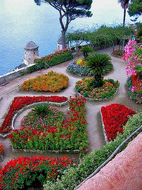 Ravello Gardens. Amalfi coast, Italy It's night view with Concert in the park is a must in Ravello!!!