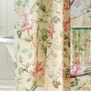 Floral Cloth Shower Curtains
