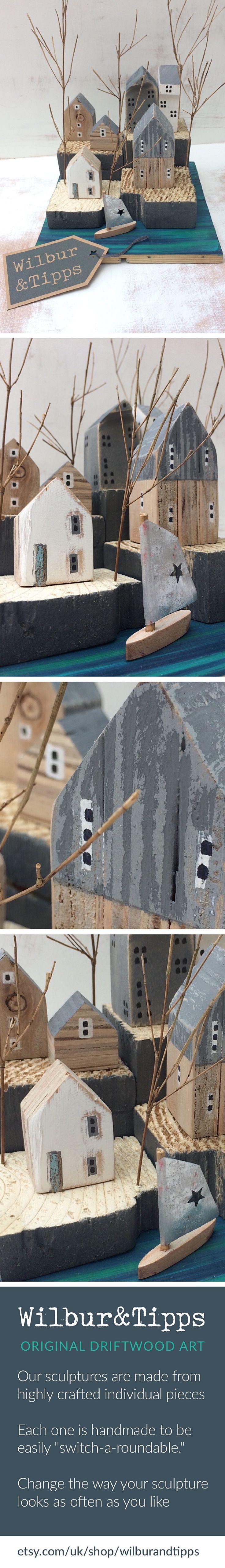 driftwood art, küsten kunst, kustlijn kunst, driftwood sculpture, gift ideas, wohnaccessoires, geschenkideen, driftwood house, driftwood houses, driftwood cottage, driftwood, etsy gifts, eckerförde, canal houses, etsy de. Driftwood Art, Treasures from the Riverbank by Wilbur&Tipps@Etsy