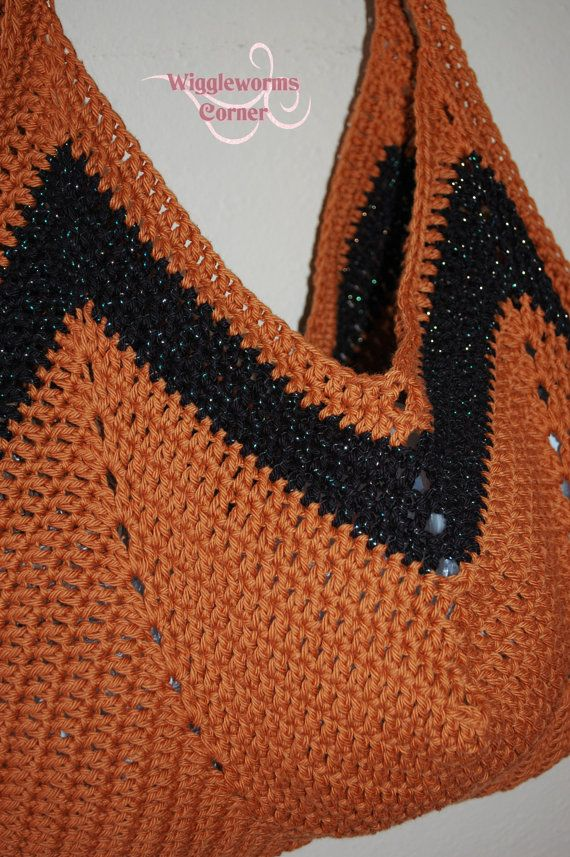 Crocheted Granny Square Bottom Bag Ready to by Wigglewormscorner, $23 ...
