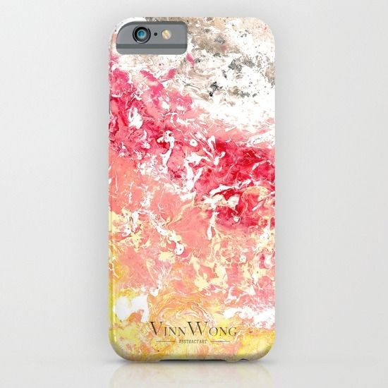 High quality sakura inspired pink and yellow abstract phone case design for iPhone 6, iPhone 5S/C, iPod Touch, Galaxy s6/s5/s4 | International Shipping | Full collection www.vinnwong.com | Click to Shop or Pin it For Later!
