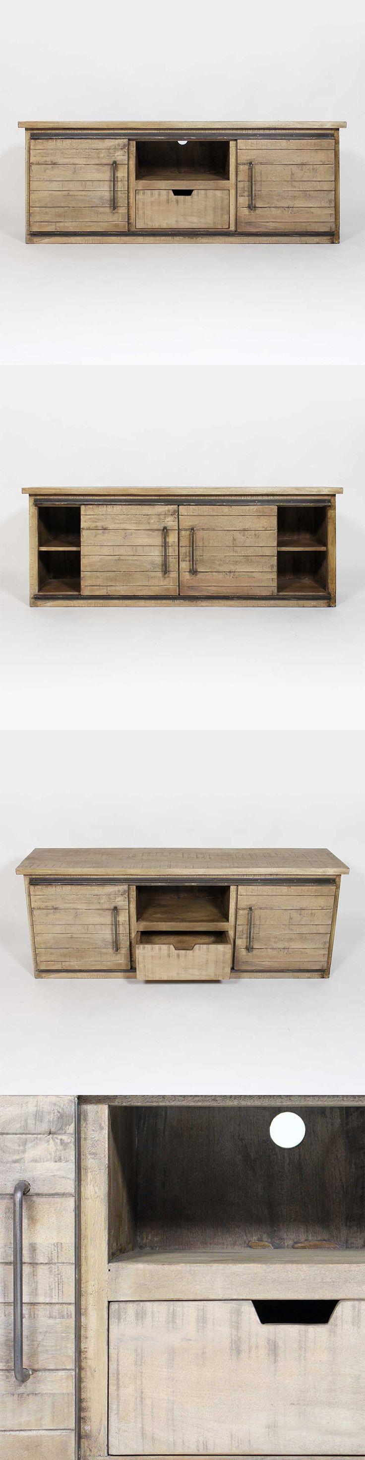Meuble tv style #industriel en bois clair.