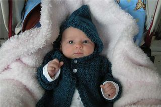 One Skein Hooded Baby Sweater
