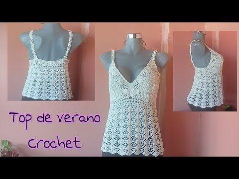 (1) Top de verano a Crochet parte 1 - YouTube