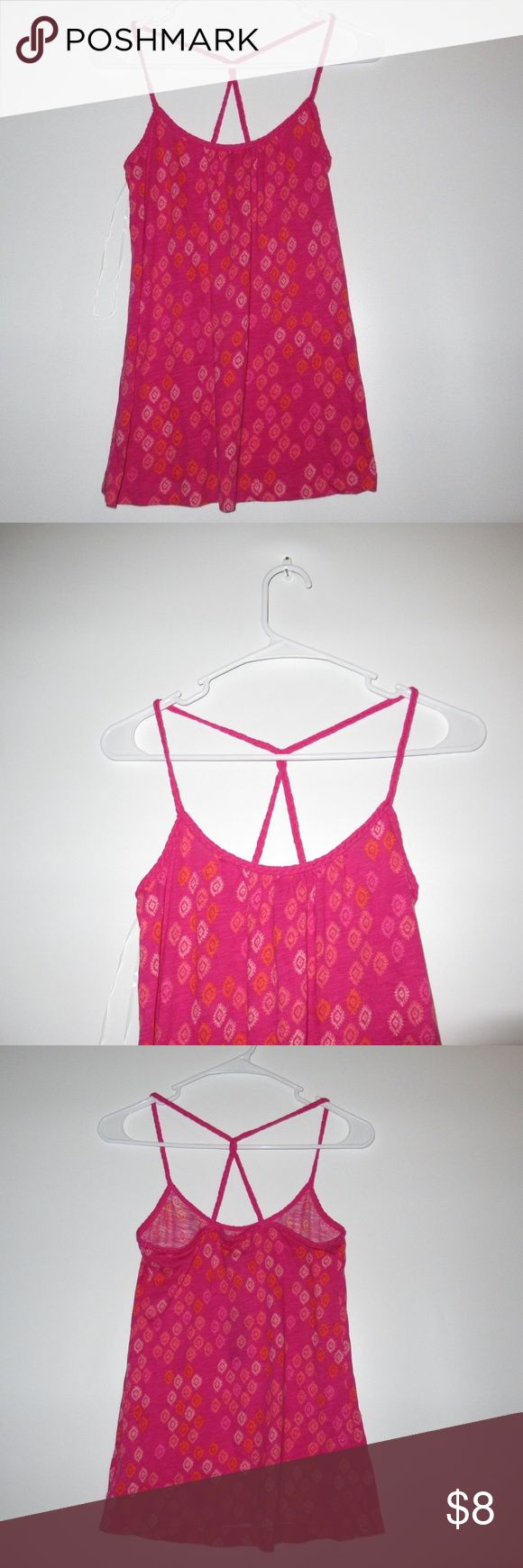OLD NAVY Women's Top Cami Pink Aztec Braided OLD NAVY Women's Top Cami Pink Aztec Braided Summer Spaghetti Strap Sz XS/ S/ Old Navy Tops Tank Tops