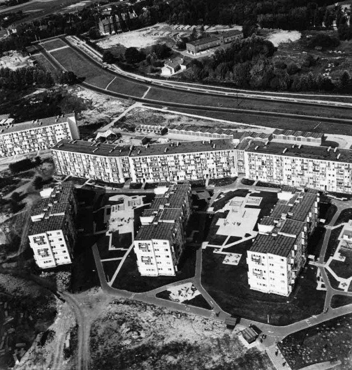 Oskar Hansen, widok z góry, osiedle w Lublinie im. Słowackiego (LSM), projekt 1960-1963, realizacja 1964-1966, fot. Muzeum ASP w Warszawie - photo 13