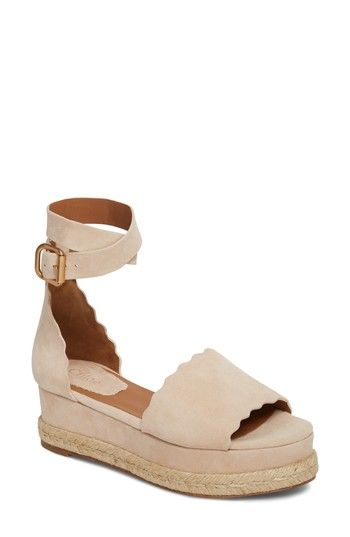 f3e54cecb2e Free shipping and returns on Chloé Lauren Espadrille Wedge Sandal (Women)  at Nordstrom.com. An open-toe sandal cut from lush suede features a  ladylike ...