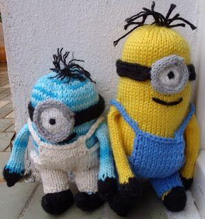 """Free Knitting Minions Pattern - Click """"Minion Part 1"""""""