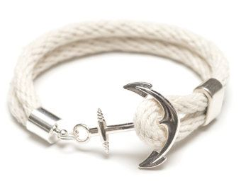 Bracelet corde nautique / Nautical ancrage par AllisonColeJewelry