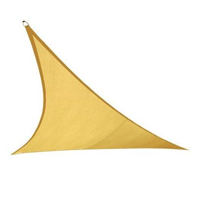 12ft. x 12ft. Triangle Shade Sail is the most cost effective shade solution per square foot. Shade Sails protect and shade your outdoor areas. Also known as Sun Sails, shade sails make beautiful additions to your patio, backyard, or other outdoor areas, while providing excellent protection from the sun and its harmful UV radiation. A chic shade sail is the perfect alternative to a traditional pergola or covered porch. Floating and curvaceous, Shade Sails make an attractive addition to any…