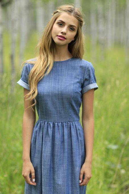 Blue-Grey Short Sleeve Gemma Maxi Dress | Shabby Apple