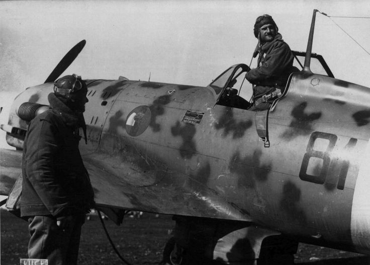 """Photo: Fighter Macchi MC.202 """"Folgore"""" 81st Squadron of the Italian Air Force before departure"""