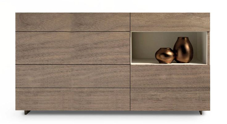 Mondrian is a modern set of chest of drawers that are available in a number of finishes.