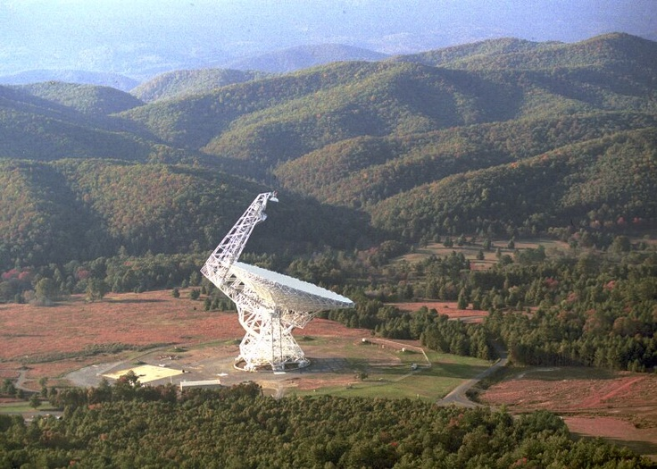 Green Bank Radio Telescope: not one, but dozens of radio telescopes listening to the stars.