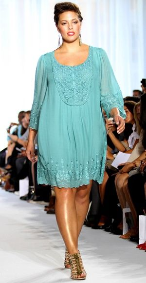 Blusón o vestido corto tallas grandes. Curvy fashion