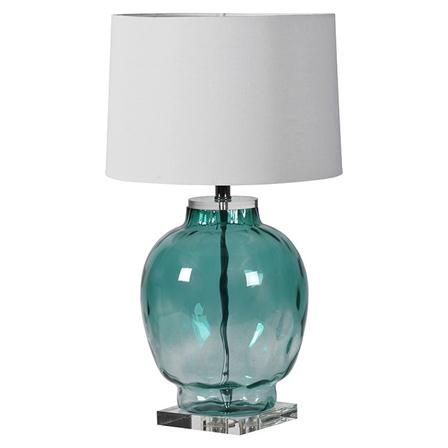 ACHICA | Werthers Glass Table Lamp, Ombre Blue