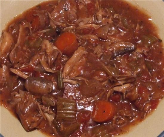Rabbit stew. For when BBQ bunny doesn't cut it. The ingredients are measured in metric, but the website provides a conversion button to switch it to US.