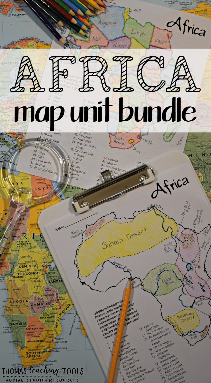 Africa Map Unit Bundle with Outline Maps