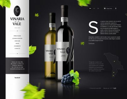 Local winery website design
