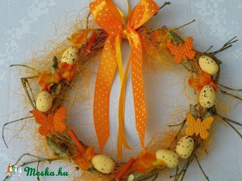 Húsvéti,tojásos ajtódísz,kopogtató,koszorú (galamb70) - Meska.hu