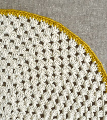 Whits Knits: Granny Circle Placemats - The Purl Bee ...