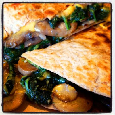 Spinach and Mushroom Quesadillas | Recipes and Foooood! | Pinterest
