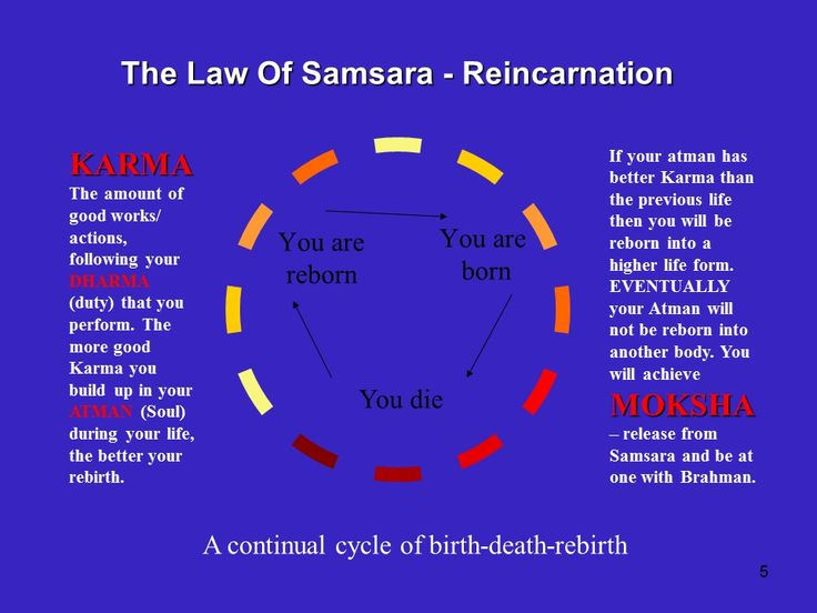 the concept of karma and samsara in hinduism What is samsara samsara in buddhism and hinduism is the endless round of birth, death, and rebirth to which conditioned beings are subject.