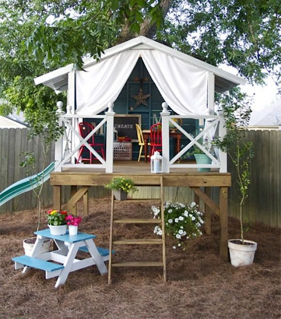 outdoor playhouse via handmade charlotte @Kelsey Myers Triplette @Casey Dalene Newth