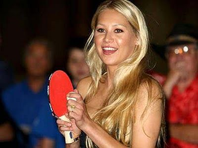 Table Tennis Bug: Celebrity Table Tennis Player of the Day: Anna Kournikova