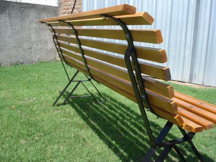 26 best images about mobiliario para el jardin en madera y hierro on pinterest 005 antigua and un - Bancos de forja para jardin ...