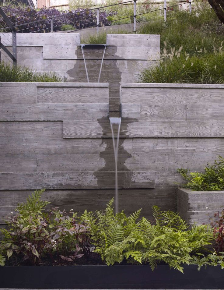 For all of our Marin hillside retaining walls… why not build in something like this?
