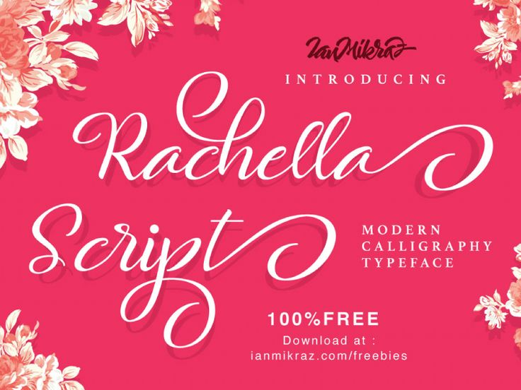Rachella Script Free Typeface by ianmikraz