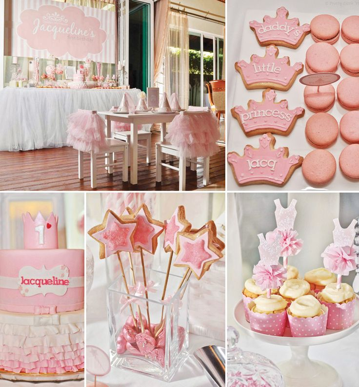 """Daddy's Little Princess"" Pink First Birthday Party by Pretty Little Vintage Melbourne"